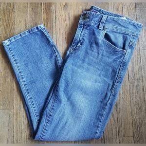 Tommy Hilfiger Blue Denim Crop Pants Light Wash